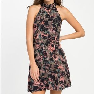 NWT RVCA Kingsman floral halter dress. Size medium